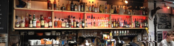 Dalston Superstore back bar