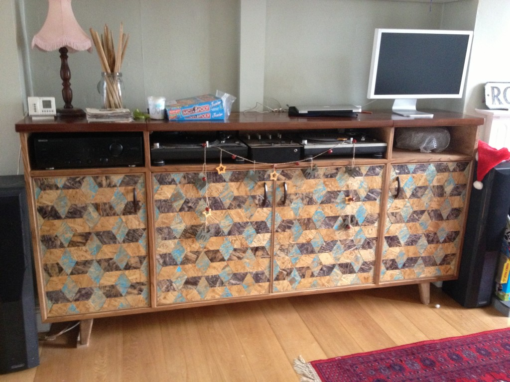 Tessalated Baby block patterned credenza